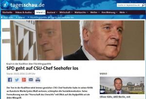 Screenshot Tagesschau.de am 10. Februar 2016