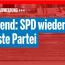Huch, SPD wieder auf Platz zwei